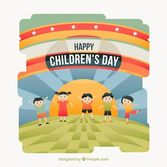 Children's day celebration abstract background