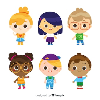 Children's day characters set