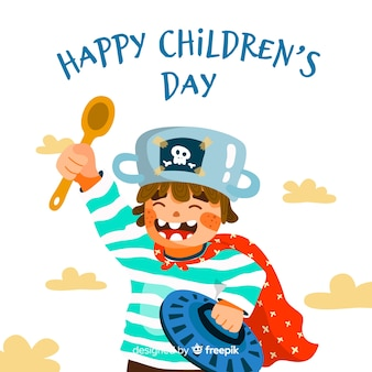 Children's day event flat design