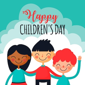 Children's day in flat design