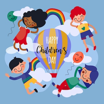 Children's day in flat design