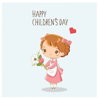 Children's day greeting card