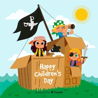 Children's day hand drawn background