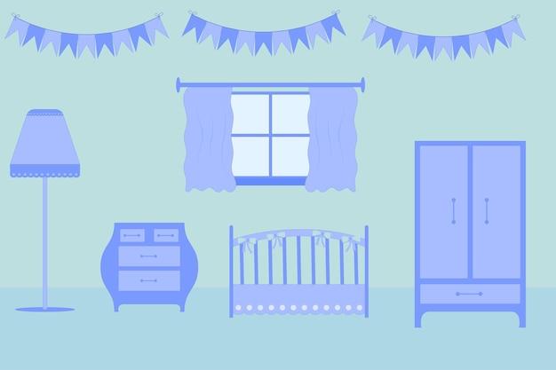 어린이 방 가구. 아이를위한 방에 배치.