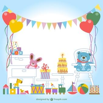 Детская комната с вектором