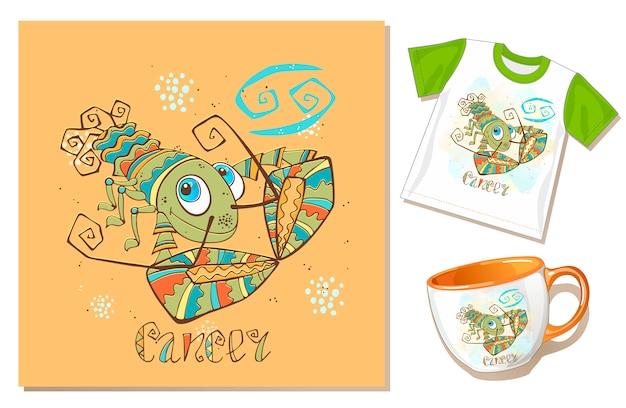 Children's zodiac. cancer sign