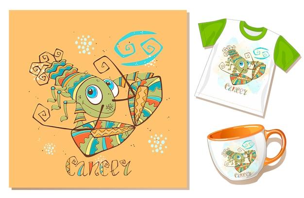 Children's zodiac. cancer sign