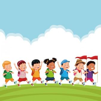 Bambini in gita scolastica