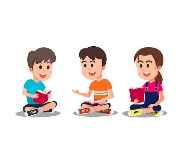 子供たちはアイデアを共有し、一緒に学びます