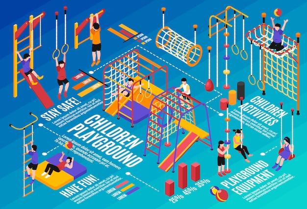 Children sport complex composition