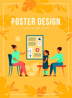 Children vaccination poster template