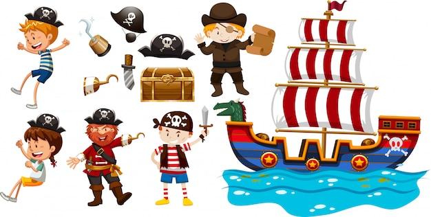 Children and viking ship