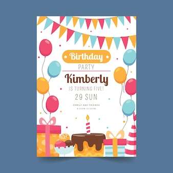Childrens birthday card design