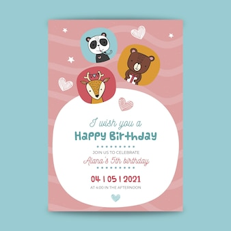 Stile di carta di compleanno per bambini