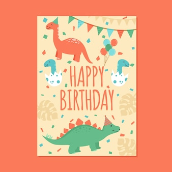 Childrens birthday invitation card template