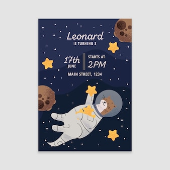Childrens birthday invitation template design