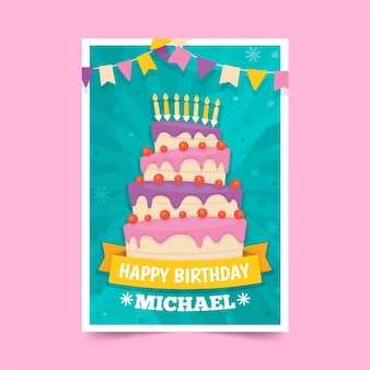 Childrens birthday invitation template theme