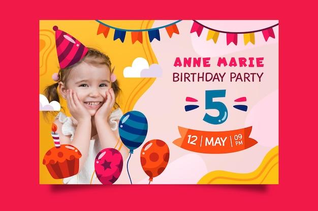 子供の誕生日の招待状のテーマ