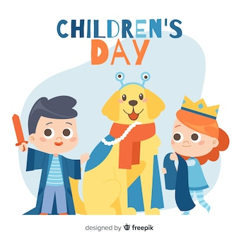 Childrens day costumes background