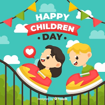 Childrens day event illustration with flat design