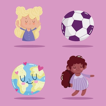 Childrens day icons