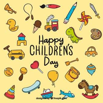 Disegno del modello di giorno dei bambini