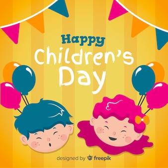 Priorità bassa sorridente dei fronti del giorno dei bambini