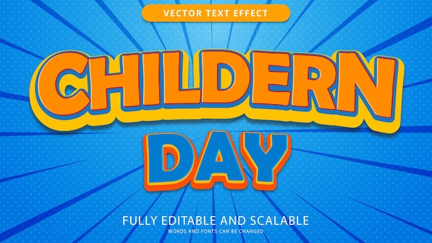 Childrens day text effect edited eps file