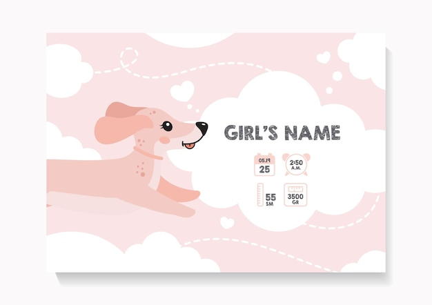 Childrens posters height weight date of birth dod dachshund