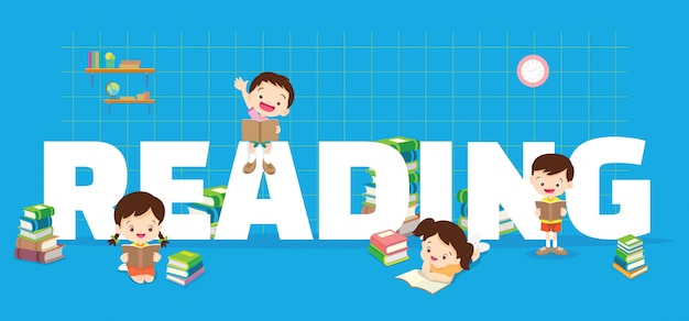 Childrens reading banner