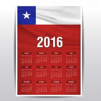 Chile calendar of 2016