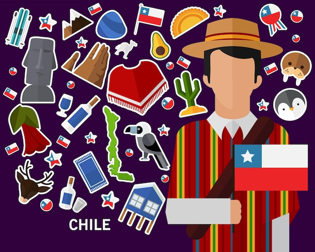 Chile concept background