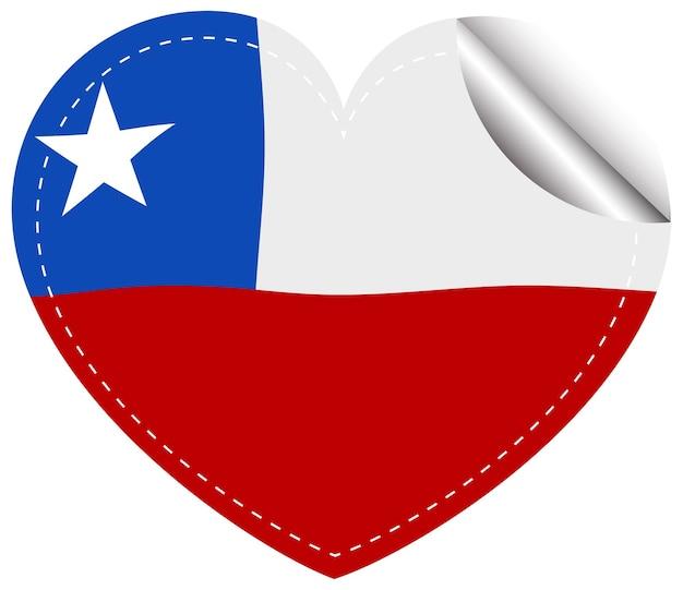 심장 모양의 칠레 국기