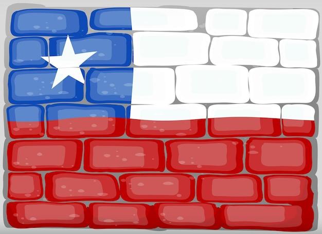 벽에 칠레 국기