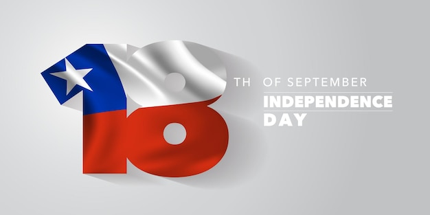 Chile independence day greeting card banner vector illustration