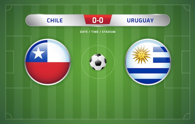 Chile vs uruguay scoreboard broadcast soccer south america's tournament 2019, group c