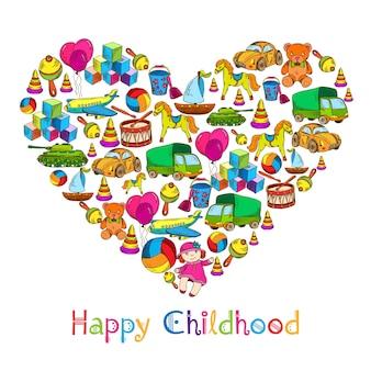 Chilhood toys background design