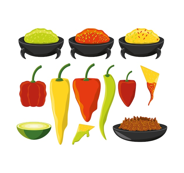 Chili pepper mexican traditional food