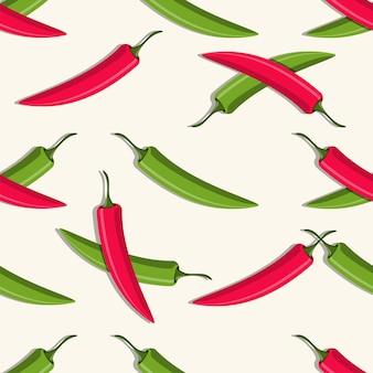 Иллюстрация бесшовные модели перца чили