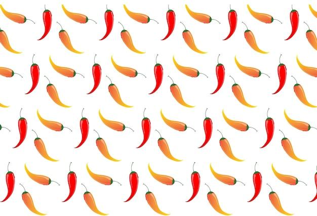 Chili peppers seamless pattern.