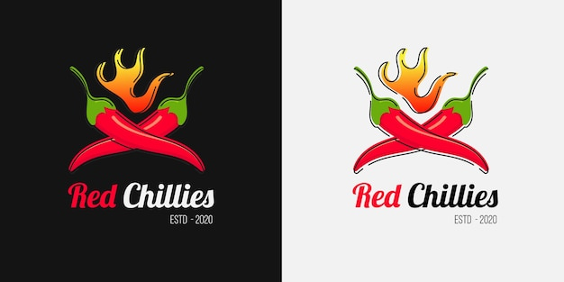 Chili spicy sauce logo for spicy food restaurant business