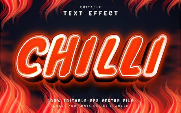 Chili text effect