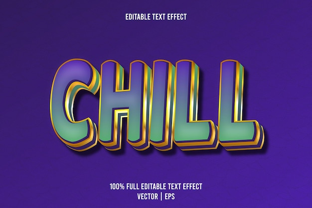 Chill editable text effect 3 dimension emboss luxury style