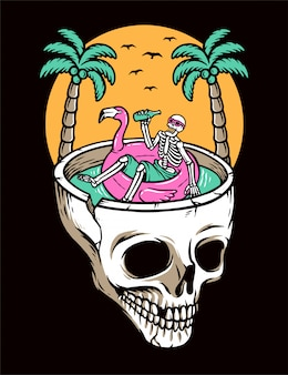 Chill out on the skull beach