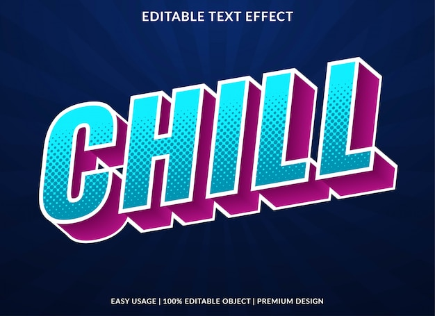 Chill text effect with retro bold style