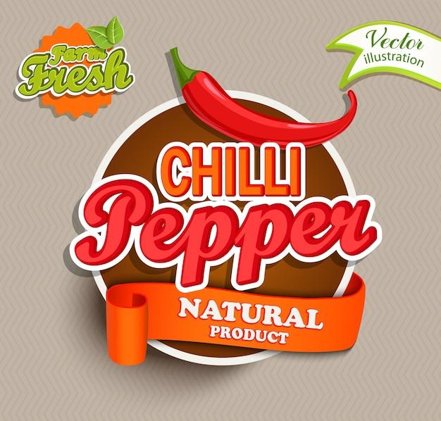 Логотип перец чили.