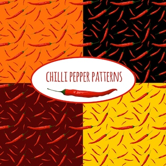 Chilli pepper patterns