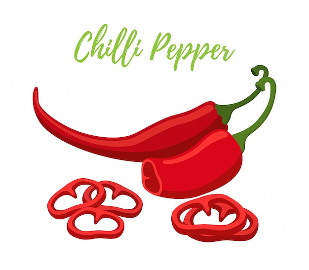 Chilli pepper with slices
