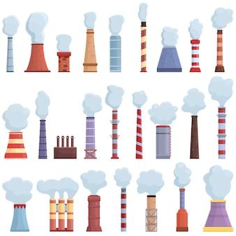 굴뚝 아이콘입니다. 흰색 배경에 고립 된 웹 디자인을위한 굴뚝 벡터 아이콘의 만화