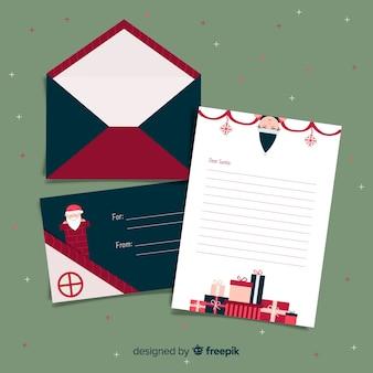 Chimney santa christmas envelope